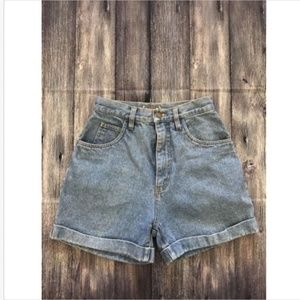 The Limited Vintage High Waist Cropped Jean Shorts